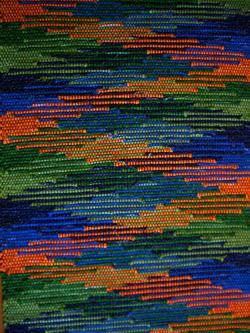 a diamond rag-rug